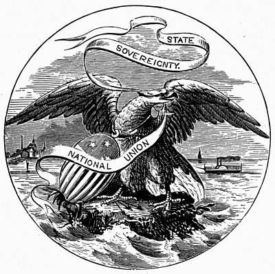 American Eagle Painting - State Seal Illinois by Granger