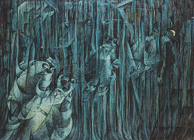 States Of Mind Those Who Stay, 1911 Oil On Canvas Print by Umberto Boccioni