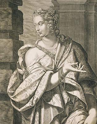 Statilia Messalina Third Wife Of Nero Print by Aegidius Sadeler or Saedeler