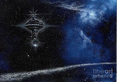 Station In The Stars Print by Murphy Elliott