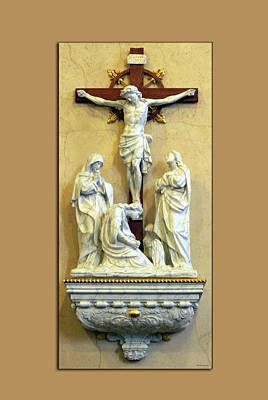 Station Of The Cross 12 Print by Thomas Woolworth