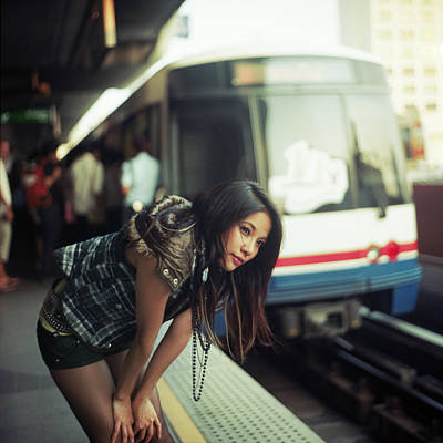 Oriental Woman Photograph - Station To Station by Alexander Kuzmin