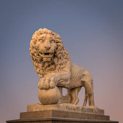 Handcarved Photograph - Statue At The Bridge Of Lions by Rob Sellers