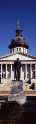 Statue In The Front Of Government Print by Panoramic Images