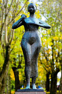 Statue Of A Woman  Print by Toppart Sweden