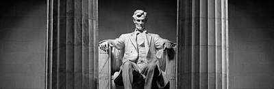 Lincoln Memorial Photograph - Statue Of Abraham Lincoln by Panoramic Images