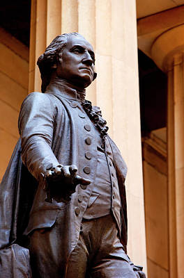 Inauguration Photograph - Statue Of George Washington At The Site by Brian Jannsen