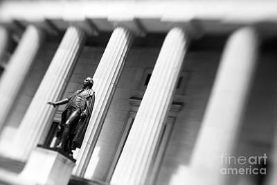 George Washington Photograph - Statue Of George Washington by Tony Cordoza