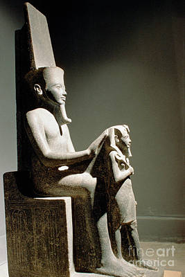 Amen Photograph - Statue Of King Horemheb With God Amun by Adam Sylvester