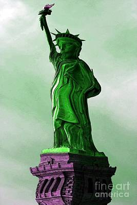 Manipulation Photograph - Statue Of Liberty Caricature by Sophie Vigneault