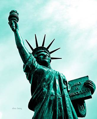 Icon Reproduction Photograph - Statue Of Liberty   by Chris Berry