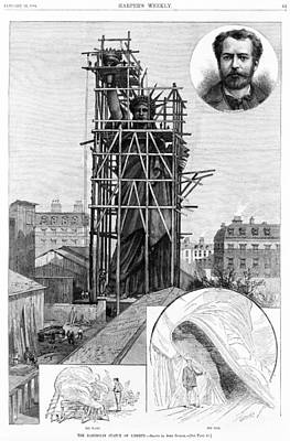 Statue Of Liberty. Construction Print by Everett