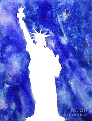 Statue Of Liberty Cool Silhouette Original by Ryan Fox