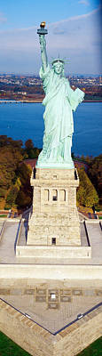 Statue Of Liberty Torch Photograph - Statue Of Liberty, New York, Nyc, New by Panoramic Images