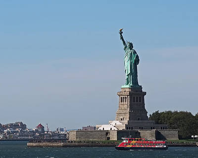 Cities Photograph - Statue Of Liberty by Rona Black
