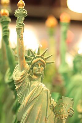 Miniature Nyc Photograph - Statue Of Liberty Souvenir by Julie  Swenson