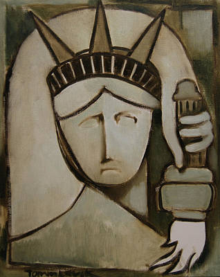 Tommervik Abstract Statue Of Liberty Art Print Print by Tommervik