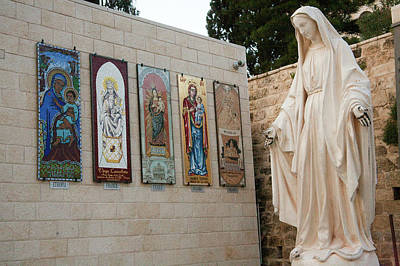 Statue Of The Virgin Mary, Mother Print by Dave Bartruff
