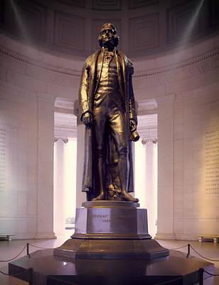 Statue Of Thomas Jefferson - Jefferson Memorial Print by Mountain Dreams