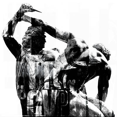 Statue With Texture Print by Toppart Sweden