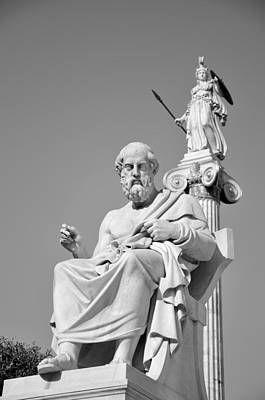 Plato Photograph - Statues Of Plato And Athina by George Atsametakis