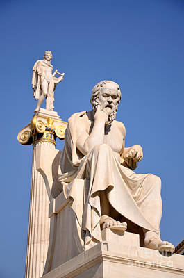 Greece Photograph - Statues Of Socrates And Apollo by George Atsametakis