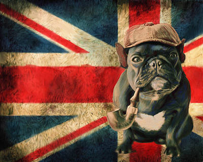 Bulldog Art Digital Art - Stay Calm And Carry On by Enzie Shahmiri