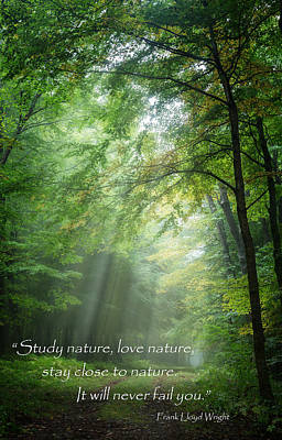 Stay Close To Nature Print by Bill Wakeley