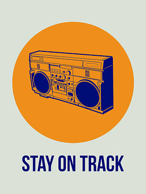 Stay On Track Boombox 1 Print by Naxart Studio