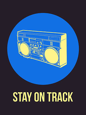 Stay On Track Boombox 2 Print by Naxart Studio