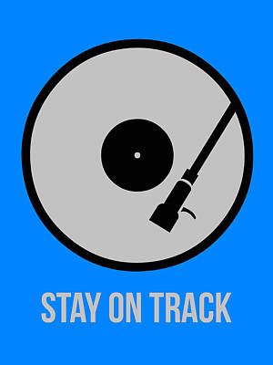 Stay On Track Circle Poster 1 Print by Naxart Studio