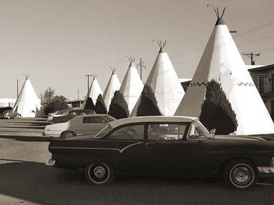 Motel Digital Art - Staying At The Wigwam 2 by Mike McGlothlen