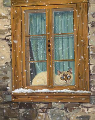 Staying Warm Original by Lucie Bilodeau