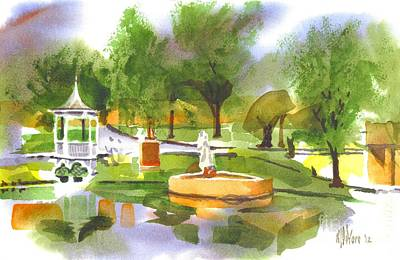 Gazebo Painting - Ste Marie Du Lac In Watercolor II by Kip DeVore