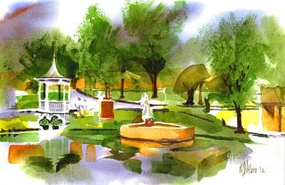 Villa Mixed Media - Ste Marie Du Lac In Watercolor IIb by Kip DeVore
