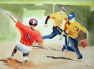 Ironton Painting - Stealing Second by Kip DeVore