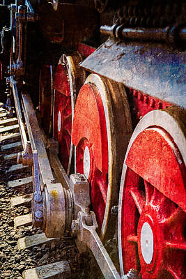 Steam And Iron - Rods And Wheels Print by Alexander Senin