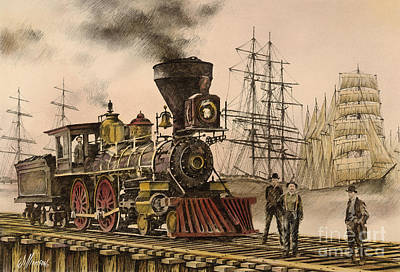 Steam And Sail Print by James Williamson