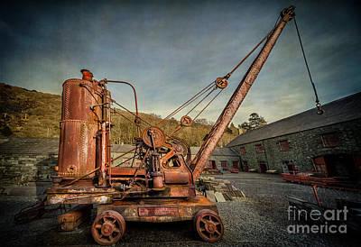 Steam Crane Print by Adrian Evans