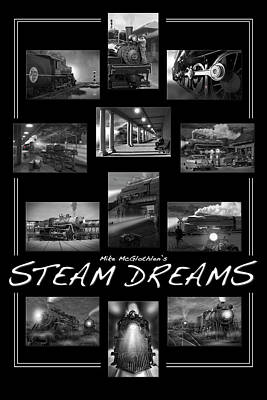 Train Digital Art - Steam Dreams by Mike McGlothlen