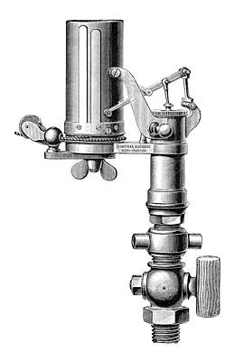 1875 Photograph - Steam Engine Indicator by Science Photo Library