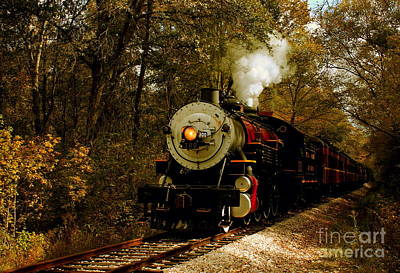 Brakeman Photograph - Steam Engine No. 300 by Robert Frederick