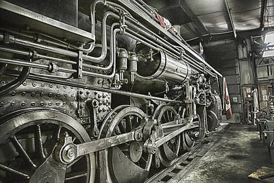 Kamloops Photograph - Steam Locomotive 2141 by Theresa Tahara