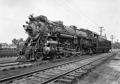 Steam Photograph - Steam Locomotive Crescent Limited C. 1927 by Daniel Hagerman