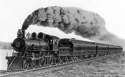 Train Photograph - Steam Locomotive No. 999 - C. 1893 by Daniel Hagerman