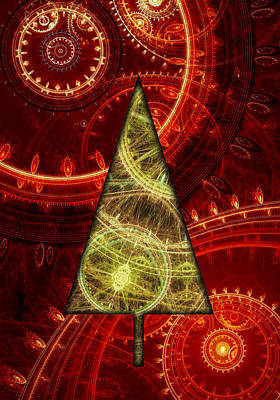 Christmas Greeting Mixed Media - Steam Punk Christmas 1 by Martin Capek