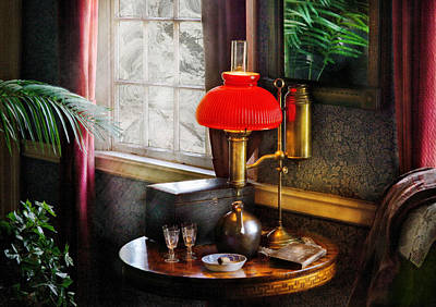 Gas Lamp Photograph - Steam Punk - Victorian Suite by Mike Savad