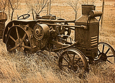 Steam Tractor Photograph - Steam Tractor by Leland D Howard