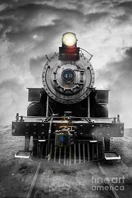 Locomotive Photograph - Steam Train Dream by Edward Fielding
