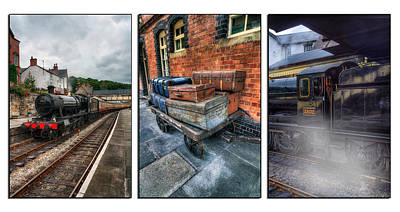 Tryptych Photograph - Steam Train Memories Tryptych by Ian Mitchell
